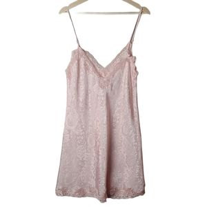 Victoria's Secret pink lace trim v-neck teddy